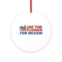 Joe the Plumber for McCain Ornament (Round)