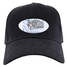 boston terrier cartoon look Baseball Cap