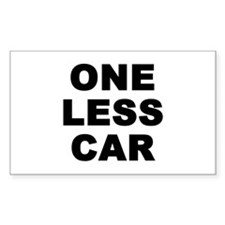 One less car Rectangle Decal
