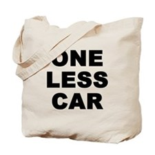 One less car Tote Bag