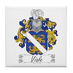 Viale Family Crest Tile Coaster