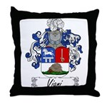 Viani Family Crest Throw Pillow