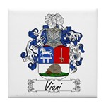 Viani Family Crest Tile Coaster