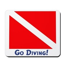 """Go Diving!"" Mousepad"
