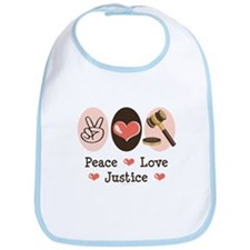 Peace Love Justice Judge Bib
