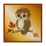 Whoo Me Owl Tile Coaster