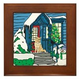 Welcome Husky Framed Tile