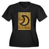 Gabriel Moon Women's Plus Size V-Neck Dark T-Shirt