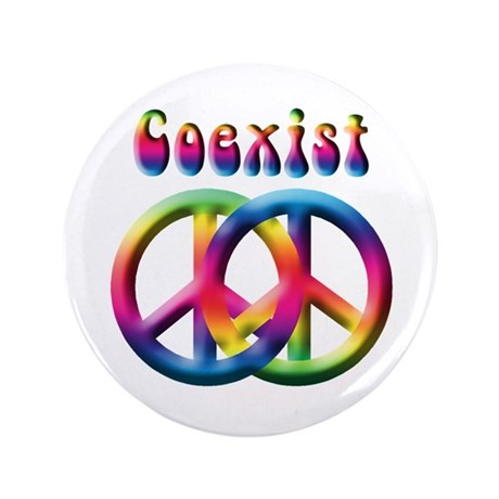 "Coexist Peace Sign 3.5"" Button (100 pack)"