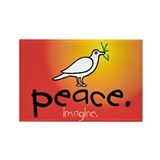 Peace... Rectangle Magnet (100 pack)
