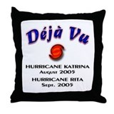 Hurricane Katrina Rita Throw Pillow