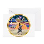 XmasMagic/Cattle Dog Greeting Cards (Pk of 10)