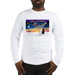 XmasSunrise/2 Std Poodles Long Sleeve T-Shirt