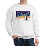 XmasSunrise/2 Std Poodles Sweatshirt
