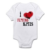 I Love Flying Kites Infant Bodysuit