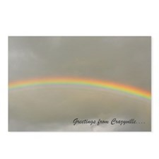 8 postcards with a rainbow