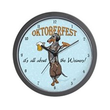 Dapple Oktoberfest Weiner Dog Wall Clock