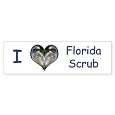 I love Florida Scrub Bumper Bumper Sticker