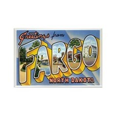 Fargo North Dakota ND Rectangle Magnet