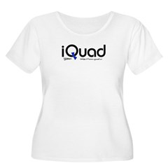 iQuad Team Women's Plus Size Scoop Neck T-Shir