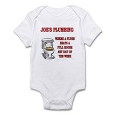 Joe's Plumbing Infant Bodysuit