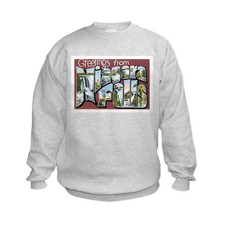 Niagara Falls New York NY Kids Sweatshirt