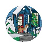 Welcome Beagle Ornament (Round)