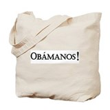 Obamanos_black letters Tote Bag