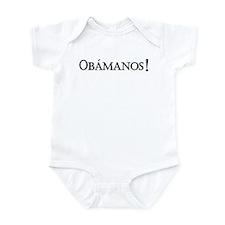 Obamanos_black letters Infant Bodysuit