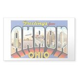 Akron Ohio OH Rectangle Decal