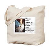 BEN FRANKLIN WATER QUOTE Tote Bag