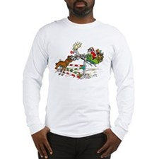 Santa Jumping Horse Jump Long Sleeve T-Shirt