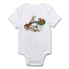 Santa Jumping Horse Jump Infant Bodysuit