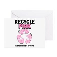Recycle Pink Recycle Hope 1 Greeting Cards (Pk of
