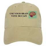 Use Your Brain, Vote McCain Baseball Cap