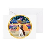 XmasStar/Beagle 2 Greeting Cards (Pk of 20)