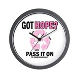 Recycle Pink Recycle Hope 2 Wall Clock