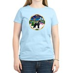 XmasMusic 3/G Schnauzer Women's Light T-Shirt