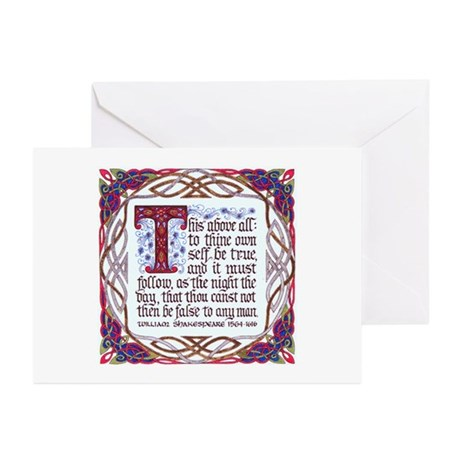 To Thine Own Self Be True Greeting Cards (Pk of 10