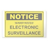 WARNING SURVEILLANCE CAMERA Rectangle Decal