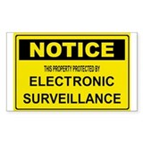 WARNING SURVEILLANCE CAMERA Rectangle Sticker 50
