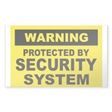 SECURITY SYSTEM SIGN Rectangle Sticker 50 pk)