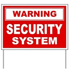 WARNING SECURITY SYSTEM Yard Sign