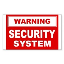 WARNING SECURITY SYSTEM Rectangle Decal