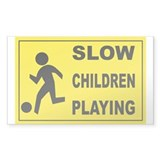 SLOW CHILDREN PLAYING Rectangle Sticker 10 pk)