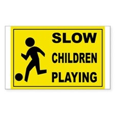 SLOW CHILDREN PLAYING Rectangle Sticker 50 pk)