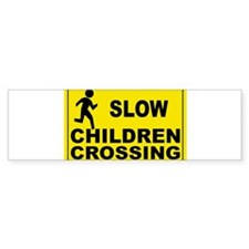 SLOW CHILDREN CROSSING Bumper Sticker (10 pk)