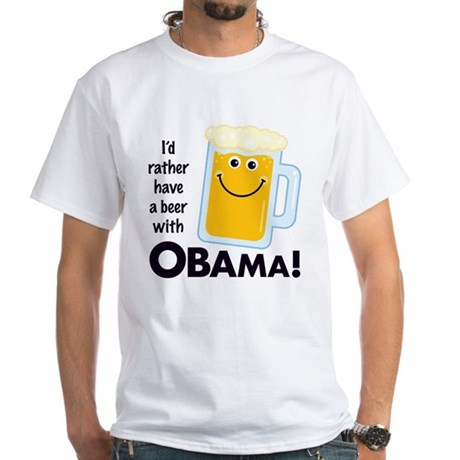 Rather Have a Beer With White T-Shirt