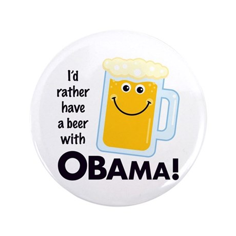 "Beer with Obama 3.5"" Button"