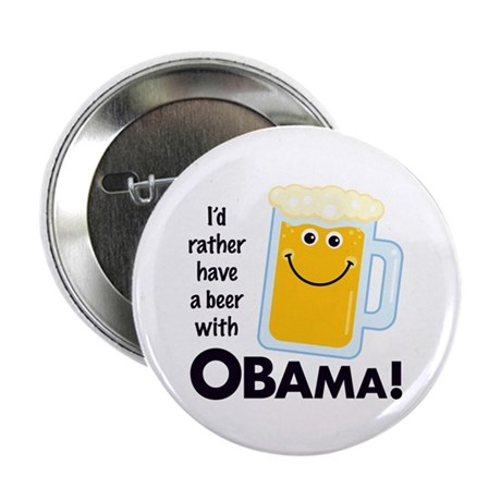 "Beer with Obama 2.25"" Button"